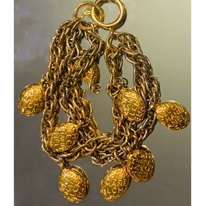 Vintage CHANEL Multi-strand Charm Bracelet